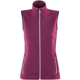 Ivanhoe of Sweden Flisan Vest Women raspberry wine